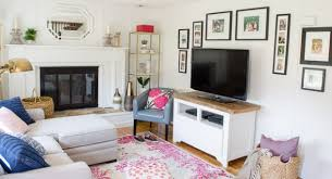 Home Goods Wall Mirrors Gather Family Around The Tv With A Gallery Wall