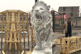 roaring lion statue western marble large roaring lion statue for sale you