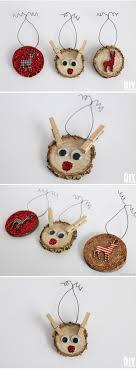 deer wood slice ornaments rustic ornament woods and