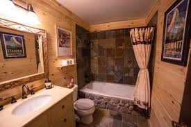 Log Cabin Bathroom Ideas Colors Rustic Log Cabin Bathroom Traditional Bathroom Other