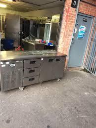 commercial pizza counter drawer fridge worktop bench fridge cafe