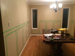 wainscoting in dining room