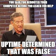 Computer Problems Meme - q why does restarting a computer fix so many problems black