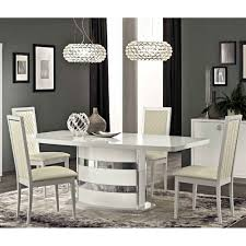 dining room table and 6 chairs roma dining set white table and 6 chairs esf furniture