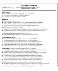 First Year Teacher Resume Examples by 22 Education Resume Samples Free U0026 Premium Templates