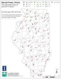 Normal Illinois Map by Illinois Frost Dates And Growing Season Illinois State