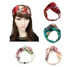 silk headband driew women silk satin elastic headbands