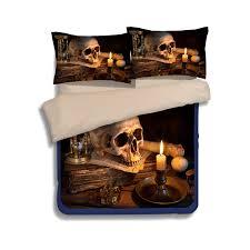 Cheap King Size Duvet Sets Happy Halloween Skull 3d Print Bedding Sets