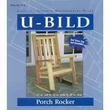 shop u bild porch rocker woodworking plan at lowes com