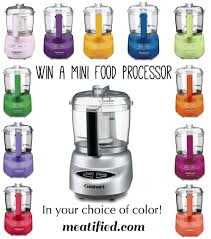 giveaway cuisinart mini food processor in the color of your