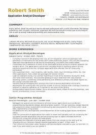Sharepoint Developer Resume Application Analyst Resume Samples Qwikresume