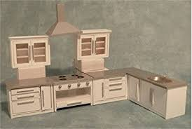 dolls house kitchen furniture 1 12 scale dolls house miniatures modern white kitchen set df977