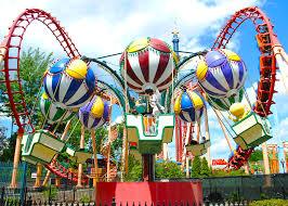 Six Flags New England Park Map Balloon Race Six Flags New England