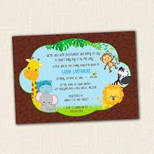 safari baby shower invitations template monkey baby shower