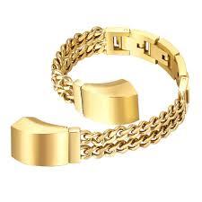 chain link bracelet gold images Chain link bracelet for fitbit alta hr strapsco jpg