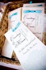 Wedding Program Stationary Embellished Booklet Wedding Program Sample Custom Colors On