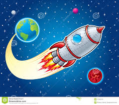 rocket ship around planet clipart collection