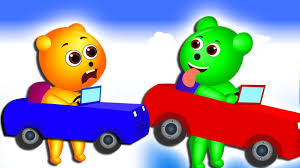 video for kids youtube kidsfuntv gummy bear baby crying funny car race costume toys fun finger