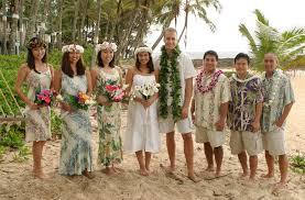 wedding party attire hawaiian bridal party clothing