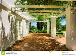 modele de terrasse couverte terrasse couverte par le raisin et le lierre images libres de
