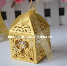 Traditional Indian Wedding Favors Aliexpress Com Buy Gold Indian Wedding Favor Boxes Laser Cut