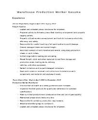 warehouse worker resume production worker resume sle production line worker resume