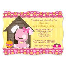 dog themed birthday party invitations dolanpedia invitations ideas