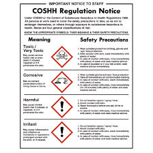 Suitable Meaning by Coshh Regulations Sign W396 Buy Online At Nisbets