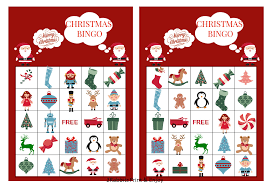 20 printable christmas bingo cards prefilled christmas clip