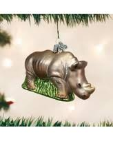 get the deal rhino ornament r42