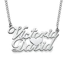 custom necklace pendants hacool personalized two name necklace pendants and heart couples