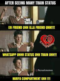 Status Meme - crush memes moolavalarchi kundrinavana maathiranunga facebook