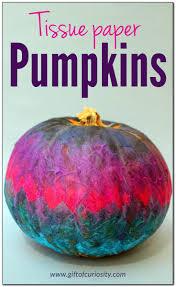 tissue paper decorated pumpkins tissue paper