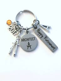 Gift For Architect Retirement Gift For Architect Key Chain Compass Keychain