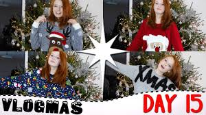 vlogmas day 15 2016 favourite christmas jumpers poundland