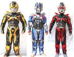 Transformer Halloween Costumes Kids Boys Cosplay Movie Superhero Transformers Costumes Optimus