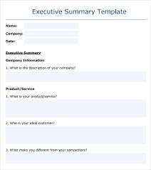 sample business summary 5 documents in pdf