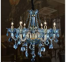 blue crystal chandelier light free shipping e14 european blue crystal chandelier lighting tiffany