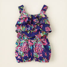 baby dresses rompers floral ruffle romper childrens