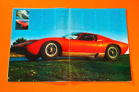 lamborghini front drawing 1000 miles in a lamborghini miura car archive dec 1967 and jan