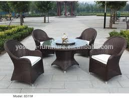 tavoli da giardino rattan 5 pc set da pranzo rattan esterno mobili da giardino di vimini
