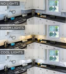 2700 kelvin led under cabinet lighting this under cabinet lighting comparison shows the stark difference