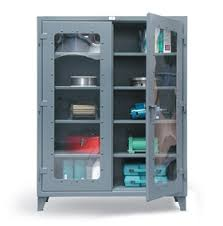 heavy duty metal cabinets strong hold s see thru door storage cabinets are the visible and