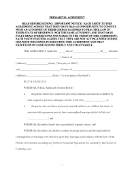 Post Marital Agreement Template 9 Best Images Of Prenuptial Agreement Forms Printable Free