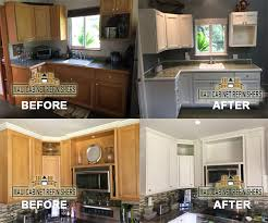 how to make kitchen cabinets look new refinish paint stain kitchen cabinets we make