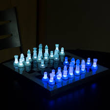 fancy led chess set by lumisource chess pinterest chess