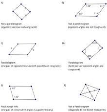 properties of parallelograms worksheet math ii course materials west virginia