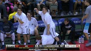 basketball bench celebrations monmouth has the best bench in basketball espn video