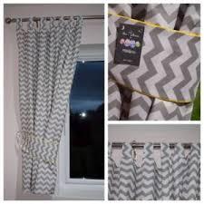 Chevron Nursery Curtains Grey Chevron Curtains Nursery Baby Room Tab Top Curtains Tiebacks