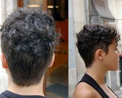 Short Hairhair Straght On Back Curly On Top | very short natural curly hairstyles for women hair wear